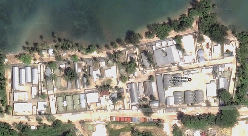 Satellite image of former Manus Island detention centre