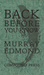 BACK Before You Know by Murray Edmond book cover